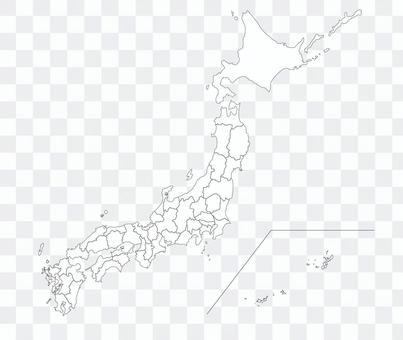 日本地圖空白地圖插圖