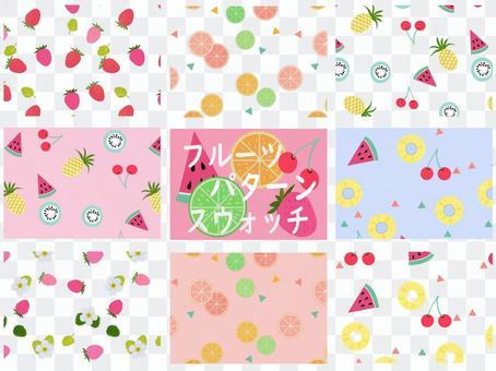 Fruit pattern swatch
