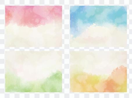 Watercolor frame set ver 06