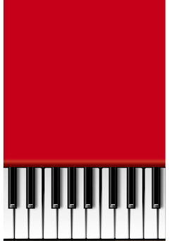 Red piano (vertical)