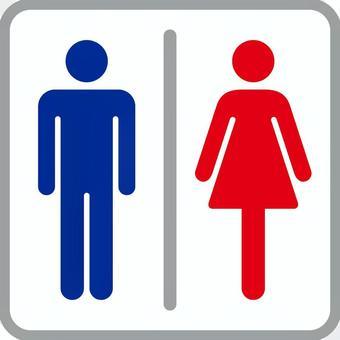 象形图_厕所_蓝色红色