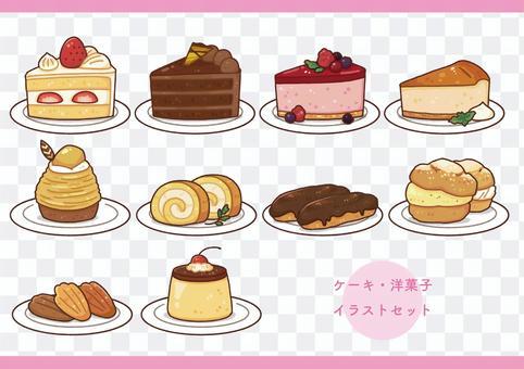 蛋糕/西式糖果插圖集(帶板)