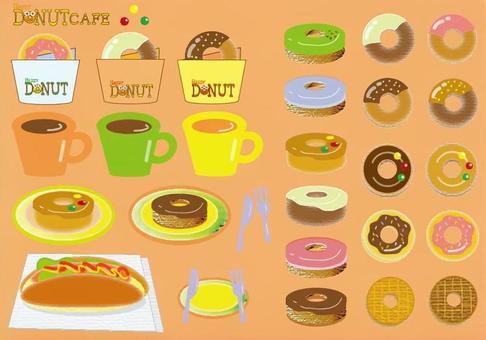 Donut cafe - pink background