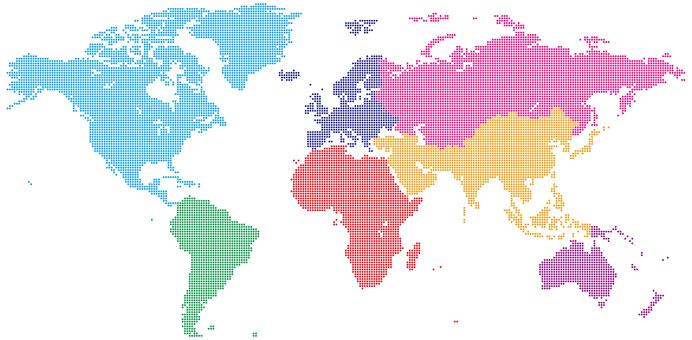 World map_dot_Africa center_regional division