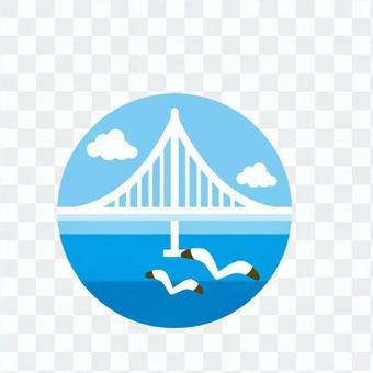 Bridge and seagull