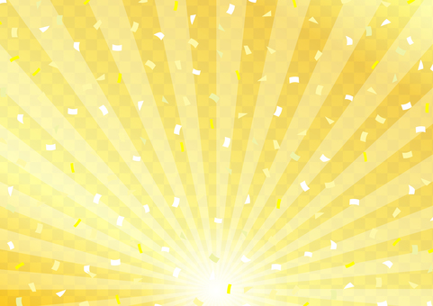 Golden checkered background confetti