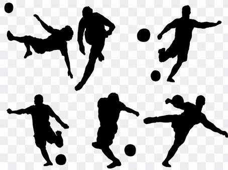 Soccer shoot silhouette