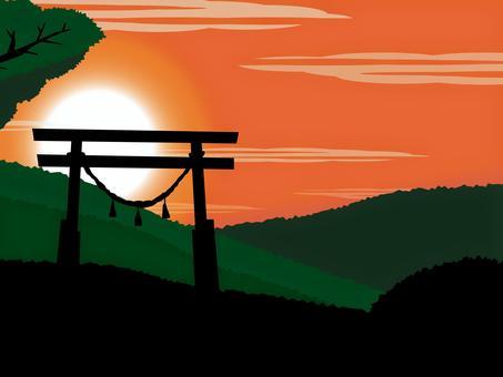 朝陽黎明太陽