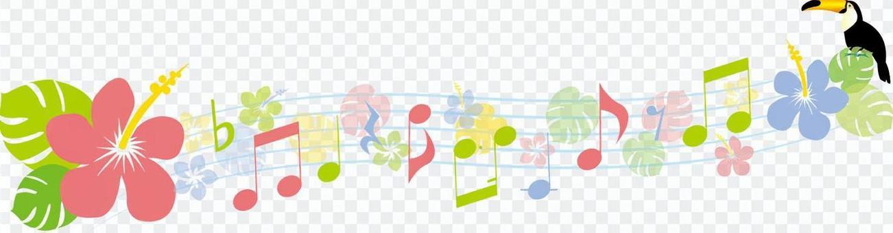 熱帶音樂評分線
