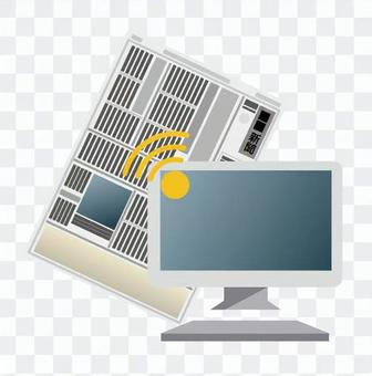Newspaper and personal computer