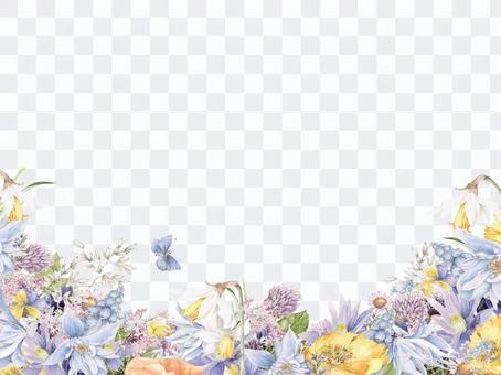 花框架261  - 通用花框架 - 紫色配色方案