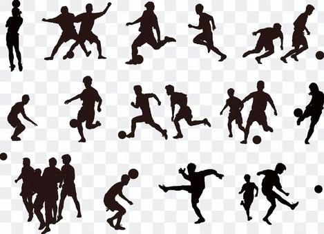 足球剪影集