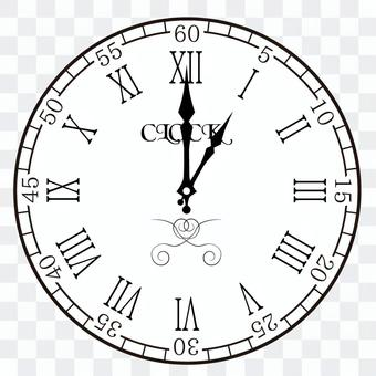 Clock 1 o'clock 13 o'clock