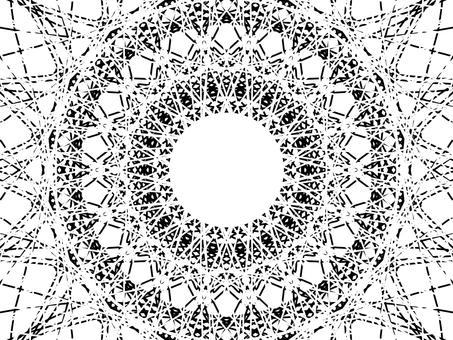 白色和黑色神奇的線條背景