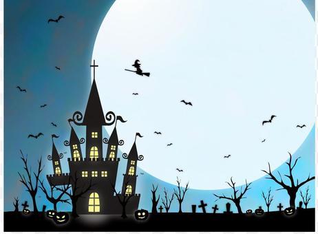 Halloween 7 night sky and castle
