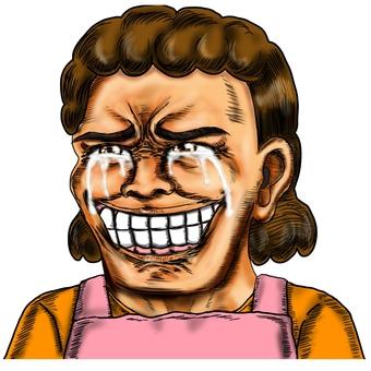 大媽,一個開心哭的家庭主婦