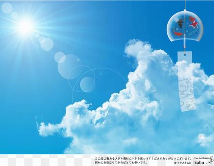 夏季可能使用的背景材料51風鈴