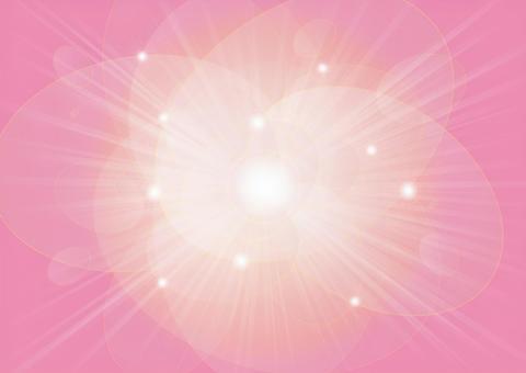 橢圓形的圓球和射線 - 粉紅色