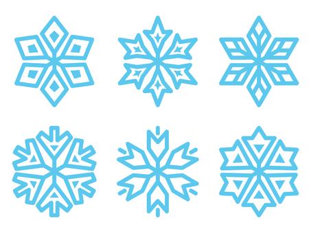 雪花樹枝套裝2帶方盤