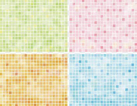 水彩般的瓷磚狀材料