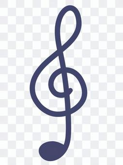 Treble clef symbol musical note music navy