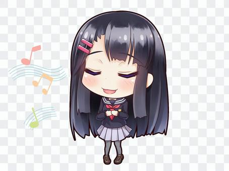 Uniforms girl with black hair _ D 3
