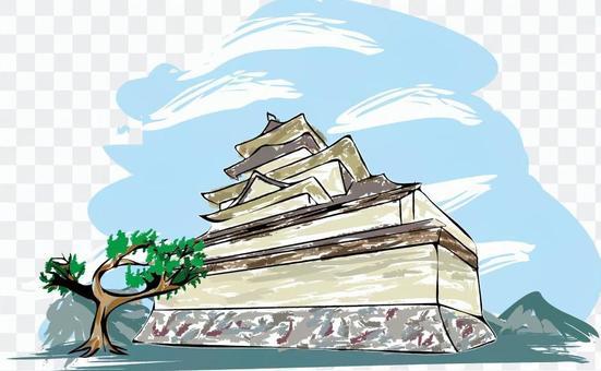 Castle Japan Ishigaki Historical Building