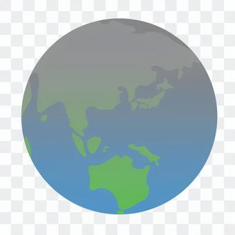 Earth (gray gradation)