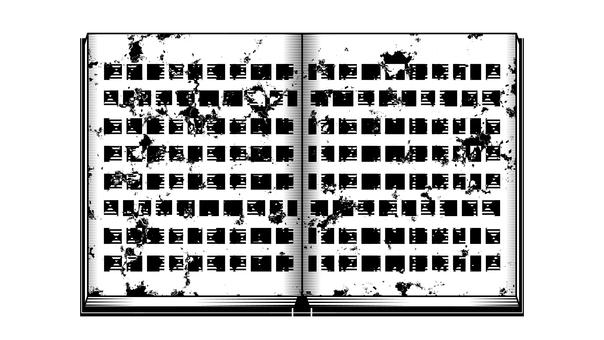 二手書剪影,白色背景,透明背景