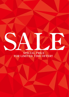SALE promotional poster tapestry red
