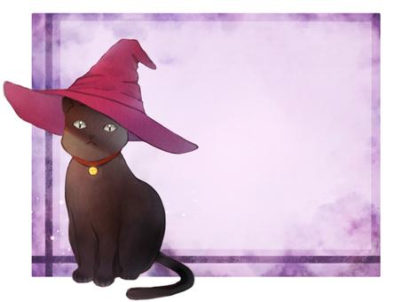 Black cat message card
