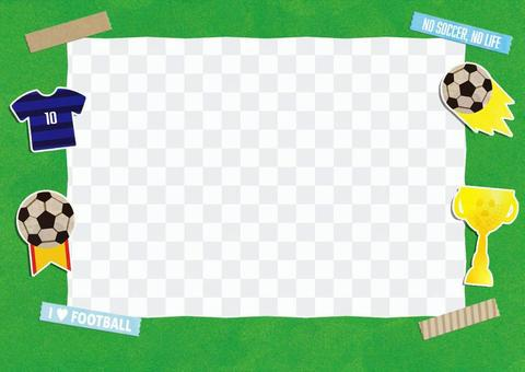 相框足球藍色襯衫