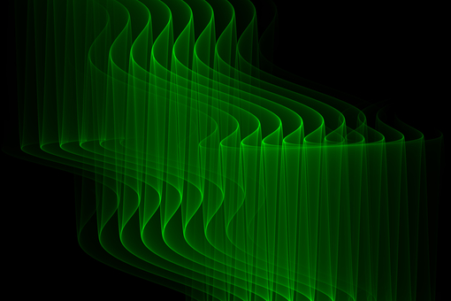 Veil of light melody green abstract background
