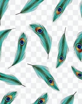 艾孔雀羽毛圖案與色板