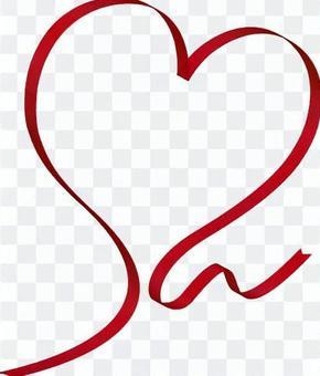 Heart shaped ribbon 1