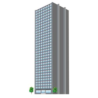 Perspective Illustration Skyscraper Hotel