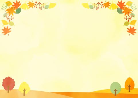 水彩 秋 背景 壁紙