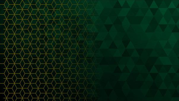 Dark green hexagon pattern background