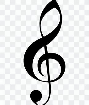 Musical note treble clef