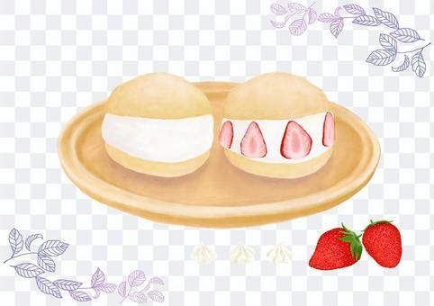Maritozzo和草莓