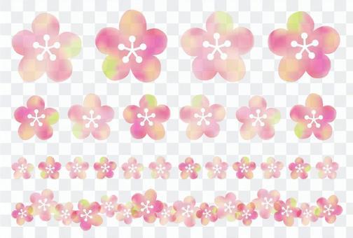 水彩梅花盛開