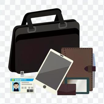 Contents of business bag (male)