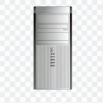 Tower type personal computer (silver)