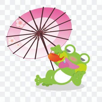 Drunk frog (umbrella)