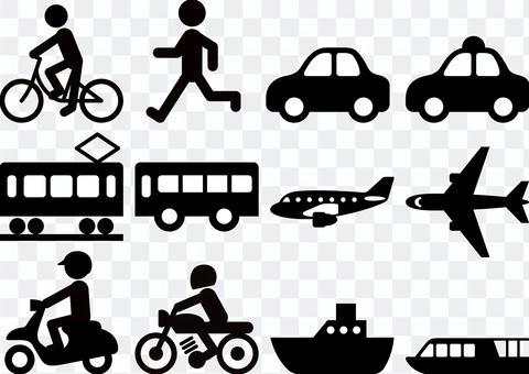 交通圖標標記