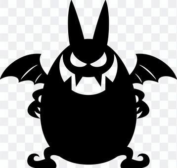 悪魔 デビル キャラクター シルエット
