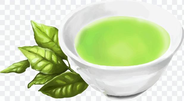 手描きリアル-お茶