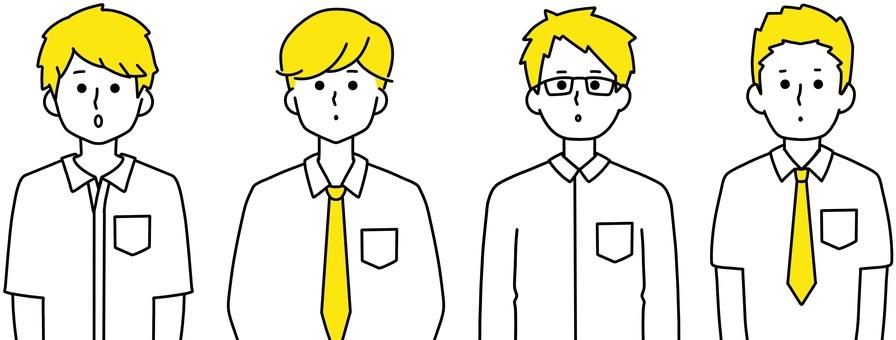 男學生京都整潔設計黃色