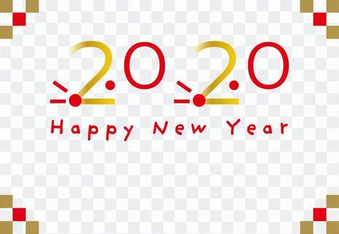 設計新年賀卡2020兒童年水平