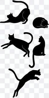 Cat Cat silhouette 2